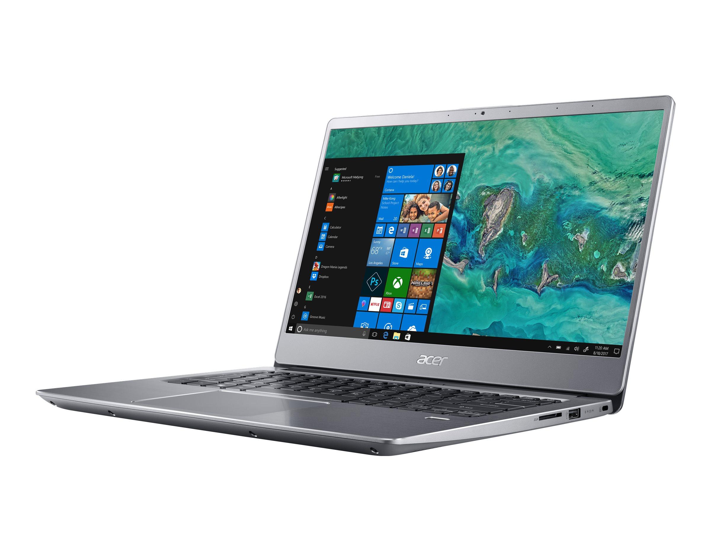 "Acer Swift 3 SF314-56-334W - Core i3 8145U / 2.1 GHz - Win 10 Home 64-Bit - 8 GB RAM - 512 GB SSD - 35.6 cm (14"")"