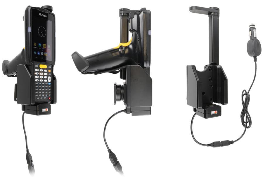 Brodit Active holder with cig-plug for Zebra MC3300 - Handy/Smartphone - Aktive Halterung - Auto/Innenbereich - Schwarz