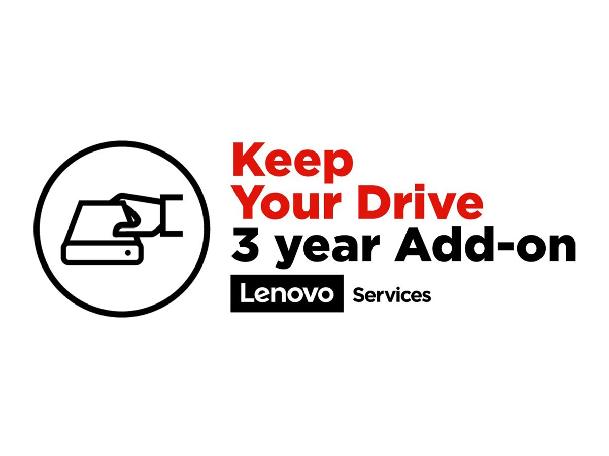 Lenovo Keep Your Drive Add On - Serviceerweiterung - 3 Jahre - für ThinkStation P300  P310  P320  P330  P330 (2nd Gen)