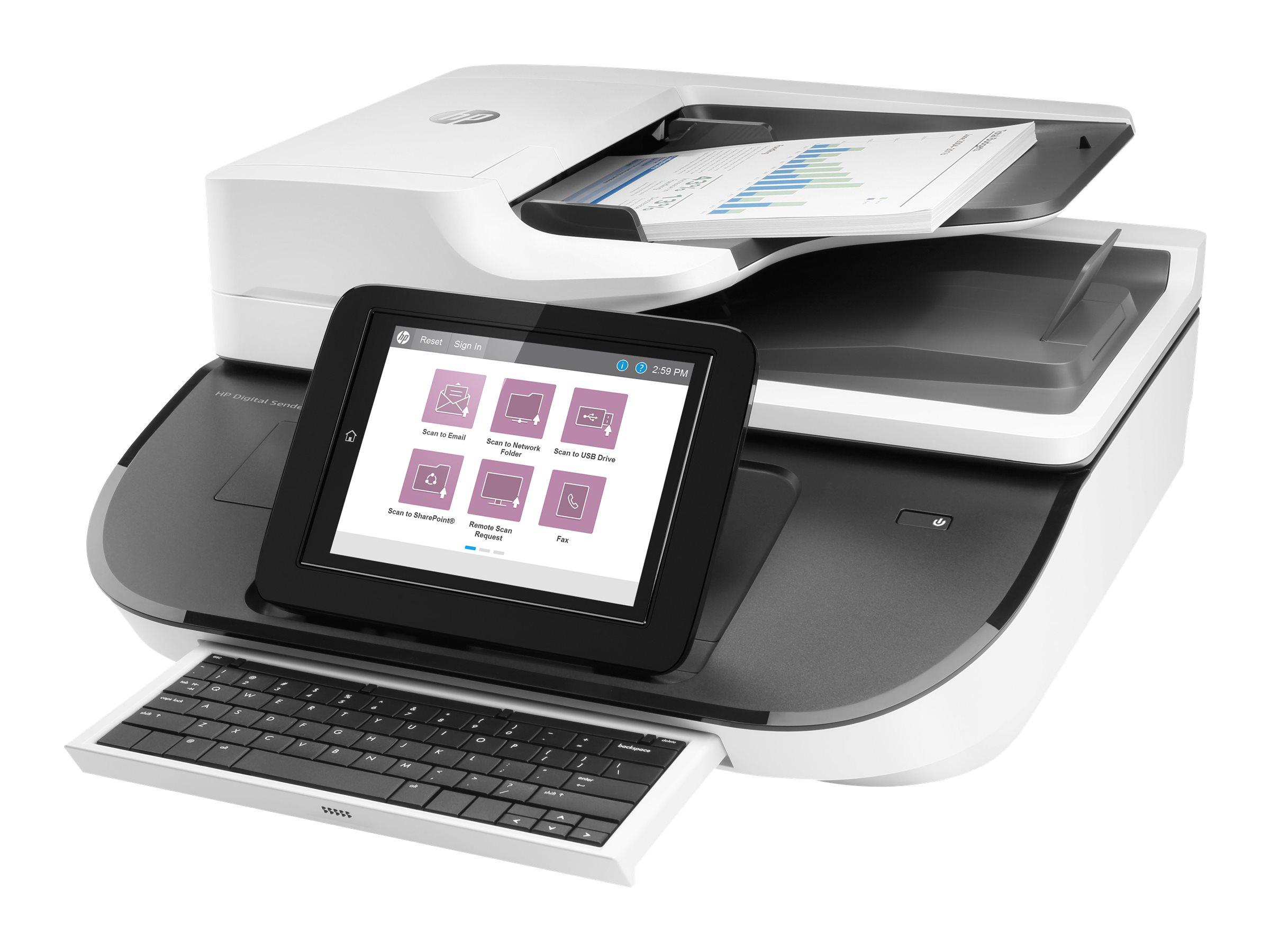 HP Digital Sender Flow 8500fn2 - Dokumentenscanner - Duplex - 216 x 864 mm - 600 dpi - bis zu 100 Seiten/Min. (einfarbig)