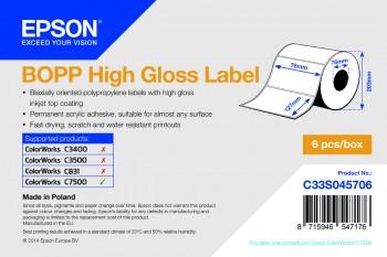 Vorschau: Epson BOPP HG 76mm x 127mm - 1150