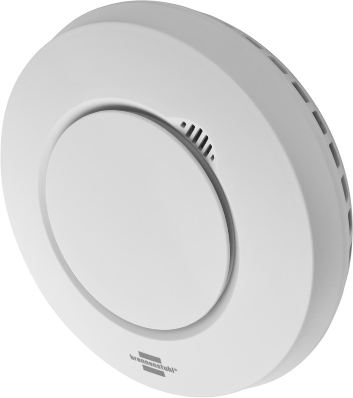 Brennenstuhl 1294300 - Luftprobendetektor - Weiß - 100 m - 868,3 MHz - Batterie/Akku - Alkali