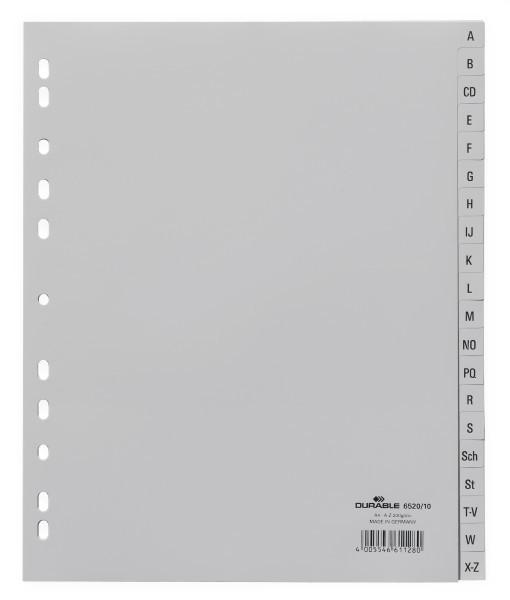 Durable 652010 - Alphabetischer Registerindex - Grau - Porträt - A4 - 245 mm - 297 mm