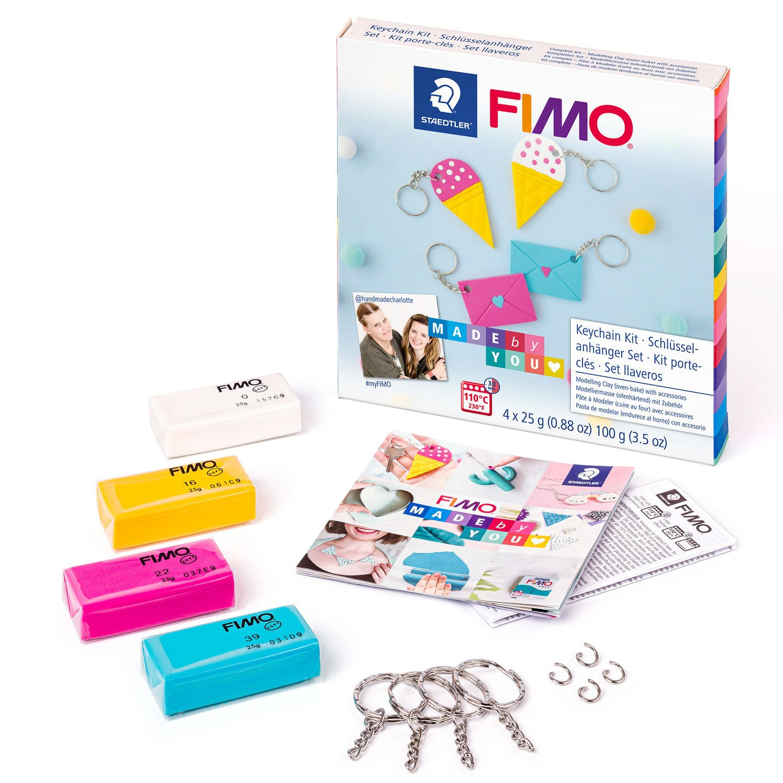 STAEDTLER FIMO 8025 DIY - Knetmasse - Beere - Blau - Weiß - Gelb - Erwachsene - 4 Stück(e) - 4 Farben - 110 °C