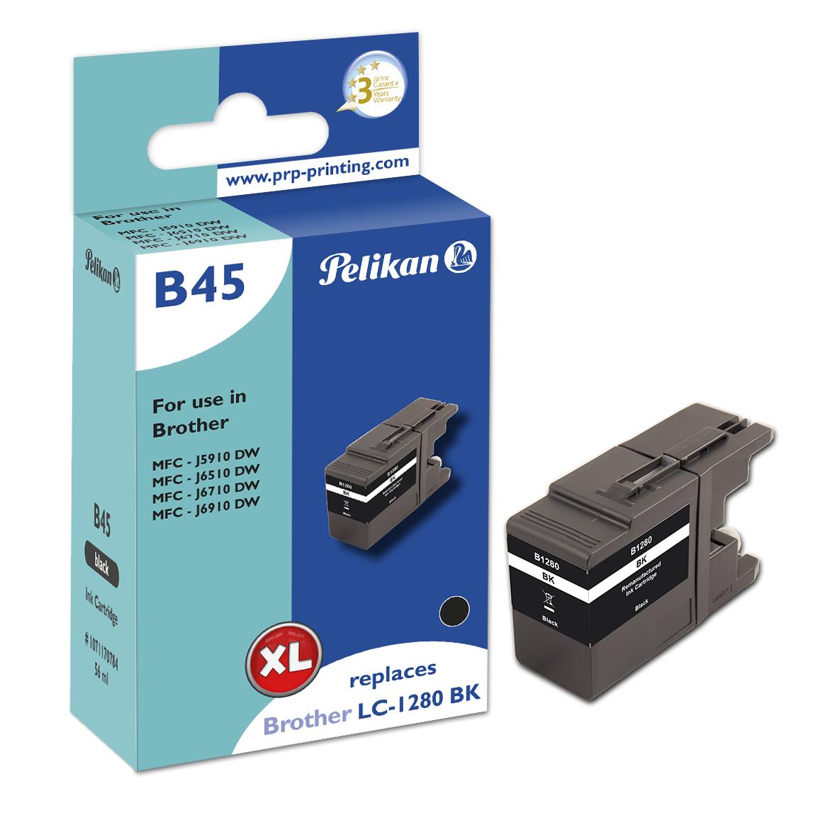 Pelikan B45 Black - Kompatibel - Schwarz - Brother - Einzelpackung - 1 Stück(e) - 2400 Seiten