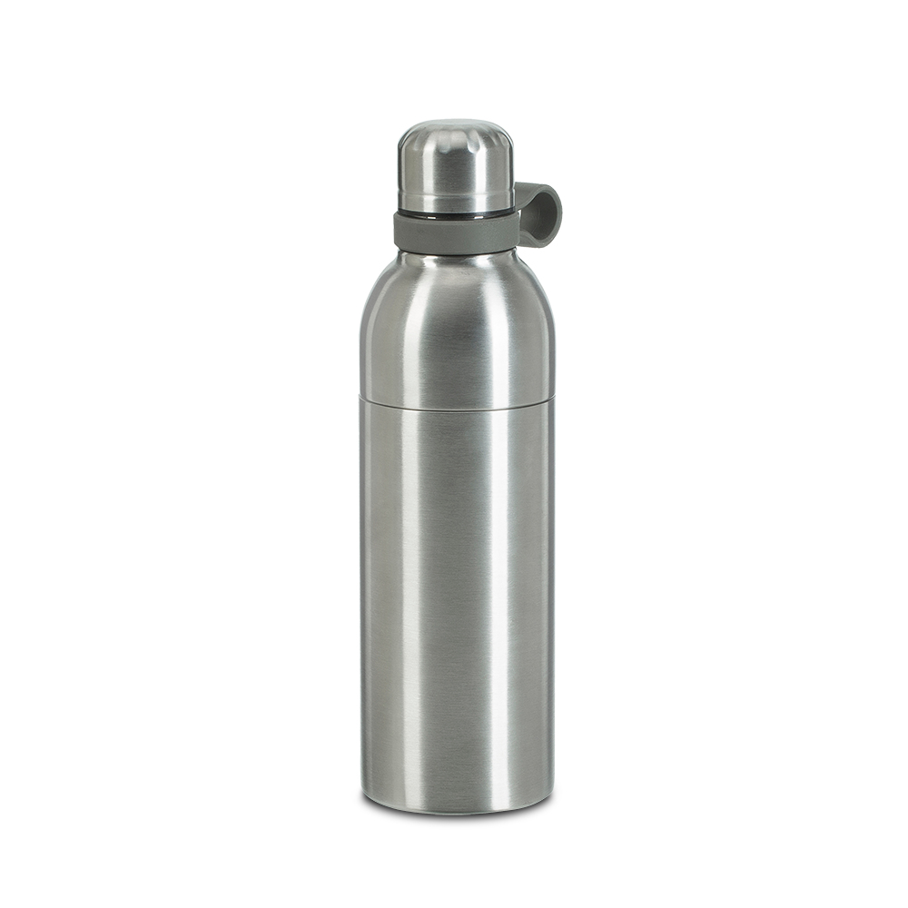 rivacase 90411SL - 0,55 l - Silber - Kunststoff - Edelstahl - 8 h - 12 h - 75 mm