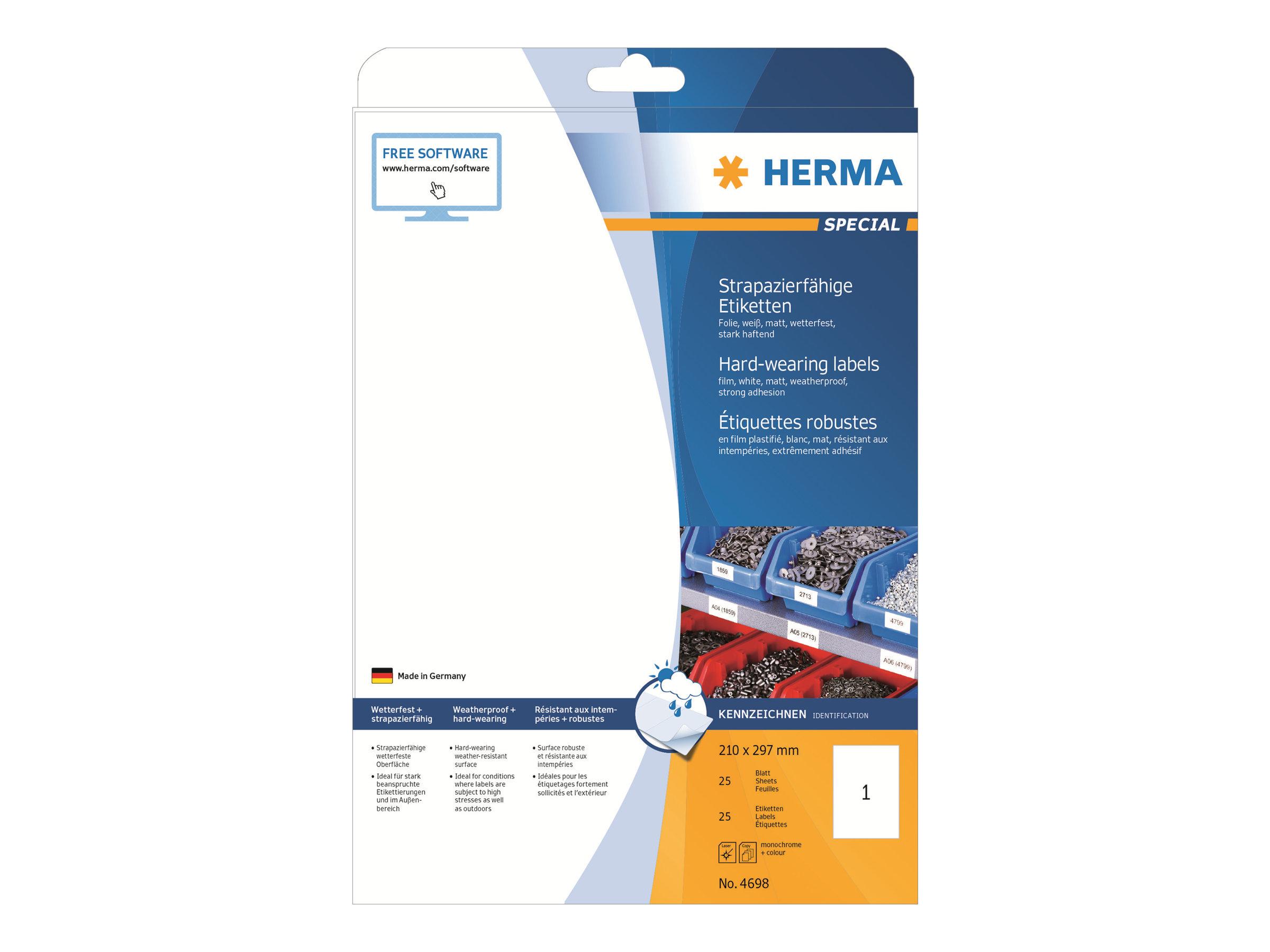 HERMA Special - Matt - permanent selbstklebend - weiß - A4 (210 x 297 mm)