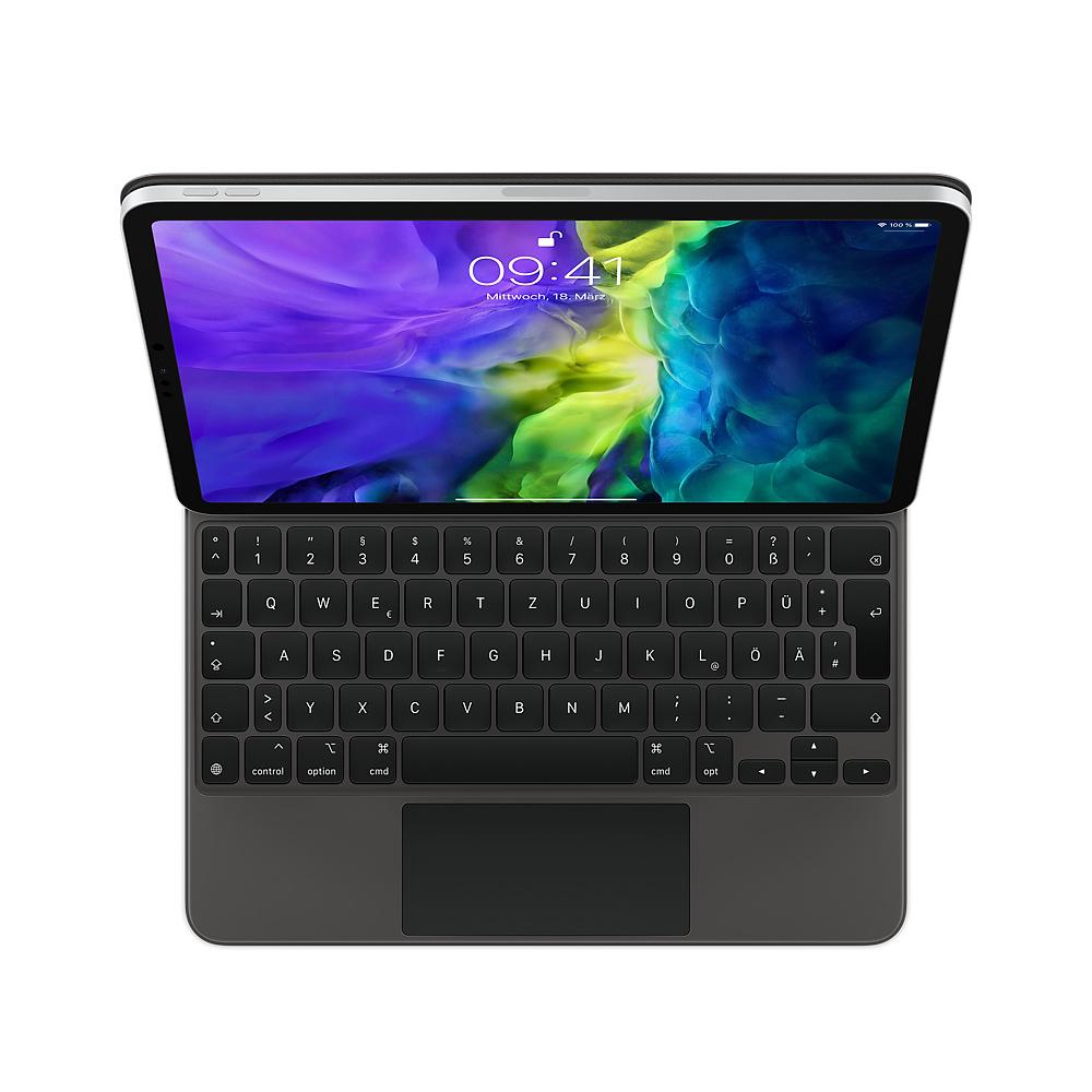 Apple Magic Keyboard - Tastatur und Foliohülle - mit Trackpad - hinterleuchtet - Apple Smart connector - QWERTZ - Deutsch - für 11-inch iPad Pro (1. Generation, 2. Generation)