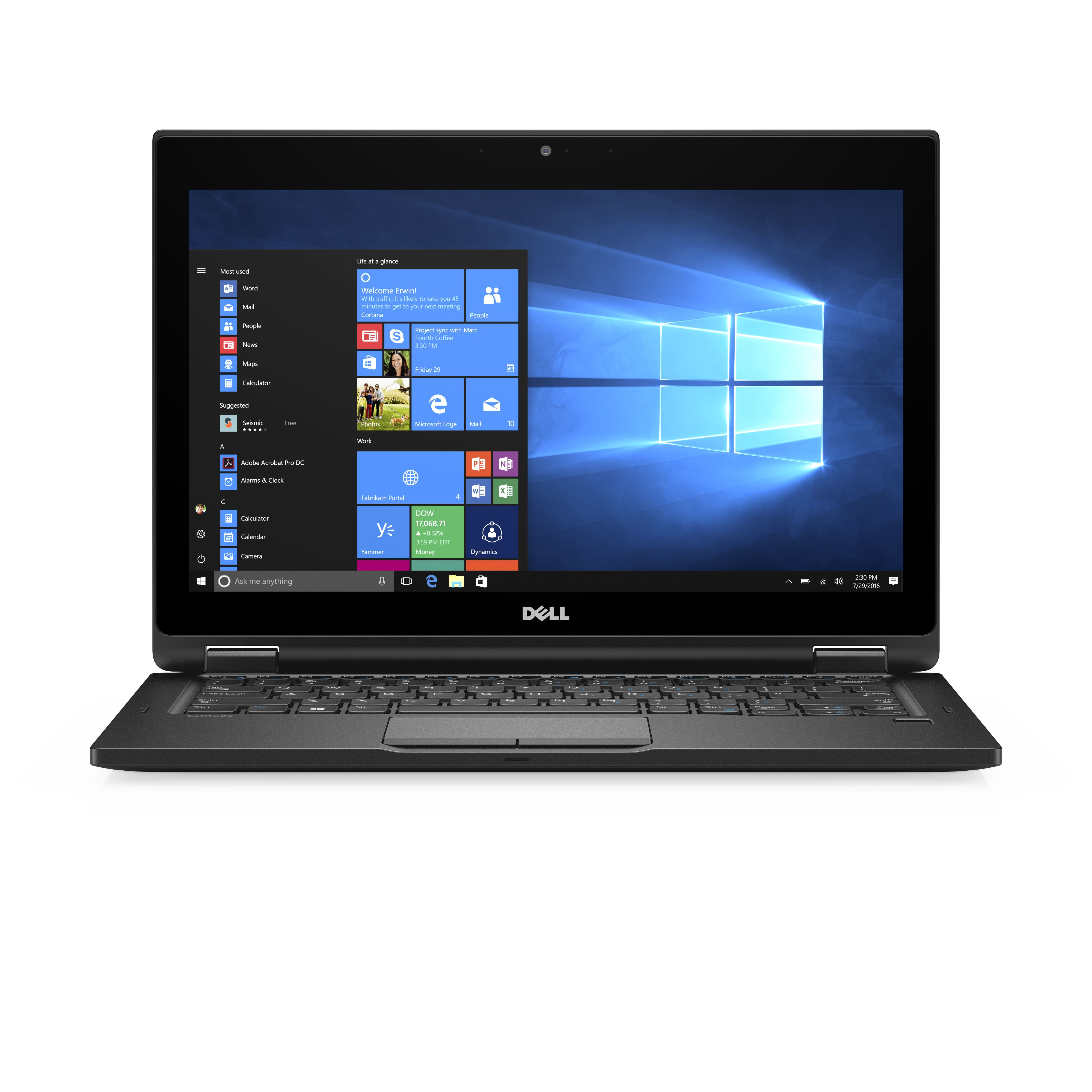 Dell Latitude 5289 256 GB Schwarz - 12,5\ Tablet - Core i5 Mobile, Core i5 2,5 GHz 31,8cm-Display