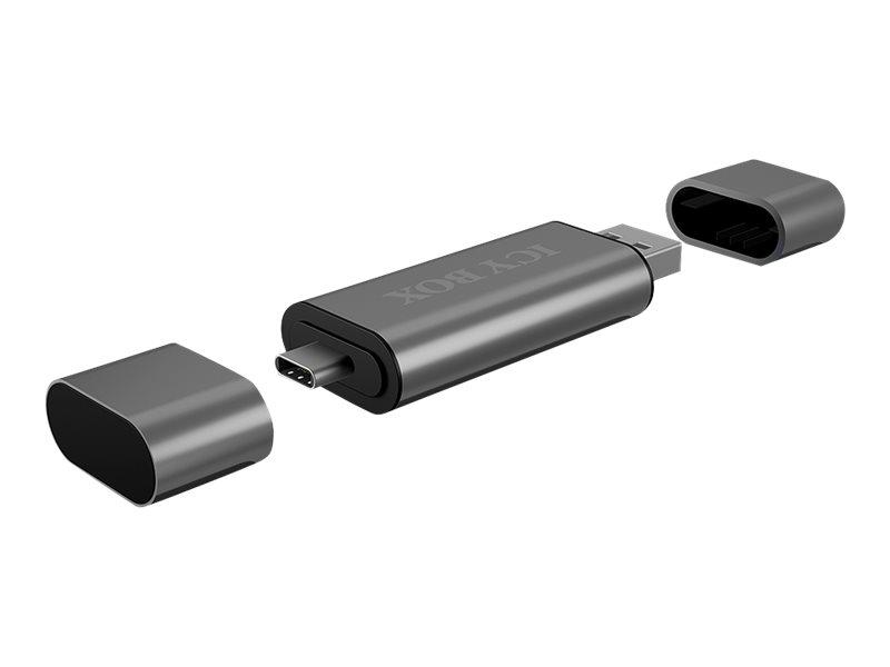 ICY BOX ICY BOX IB-CR200-C - Kartenleser (MMC, SD, microSD, SDHC, microSDHC, SDXC, microSDXC, SDHC UHS-I, microSDHC UHS-I)