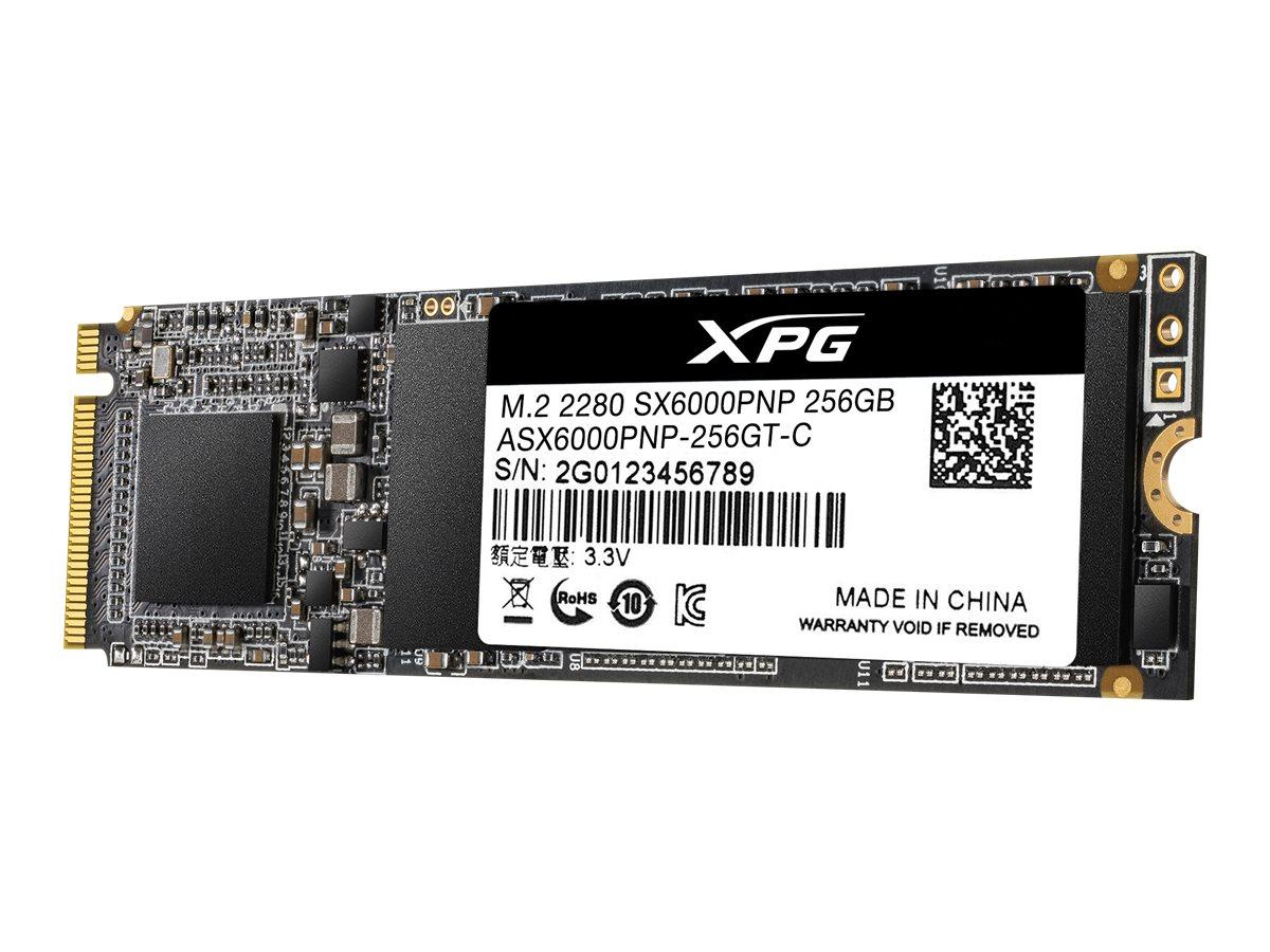 ADATA XPG SX6000 Pro - 256 GB SSD - intern - M.2 2280 - PCI Express 3.0 x4 (NVMe)