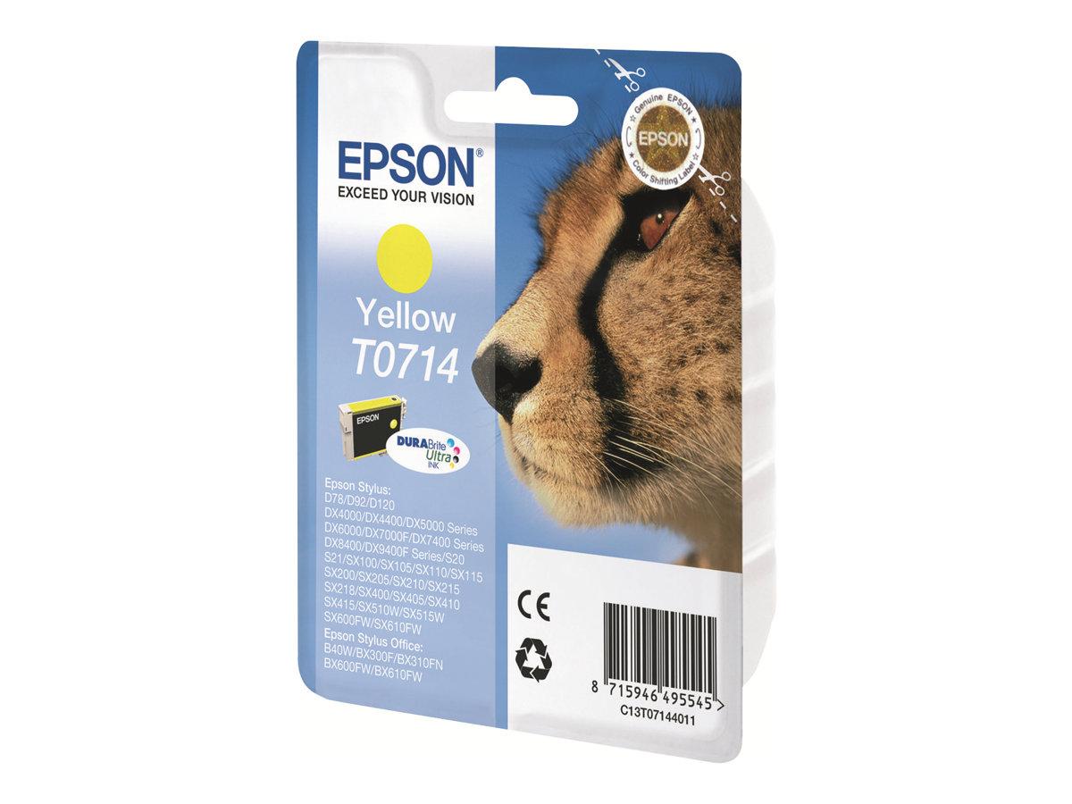 Epson T0714 - 5.5 ml - Gelb - Original - Blisterverpackung