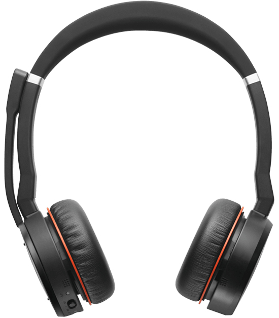 Jabra Evolve 75 MS Stereo Trådløs Sort Headset
