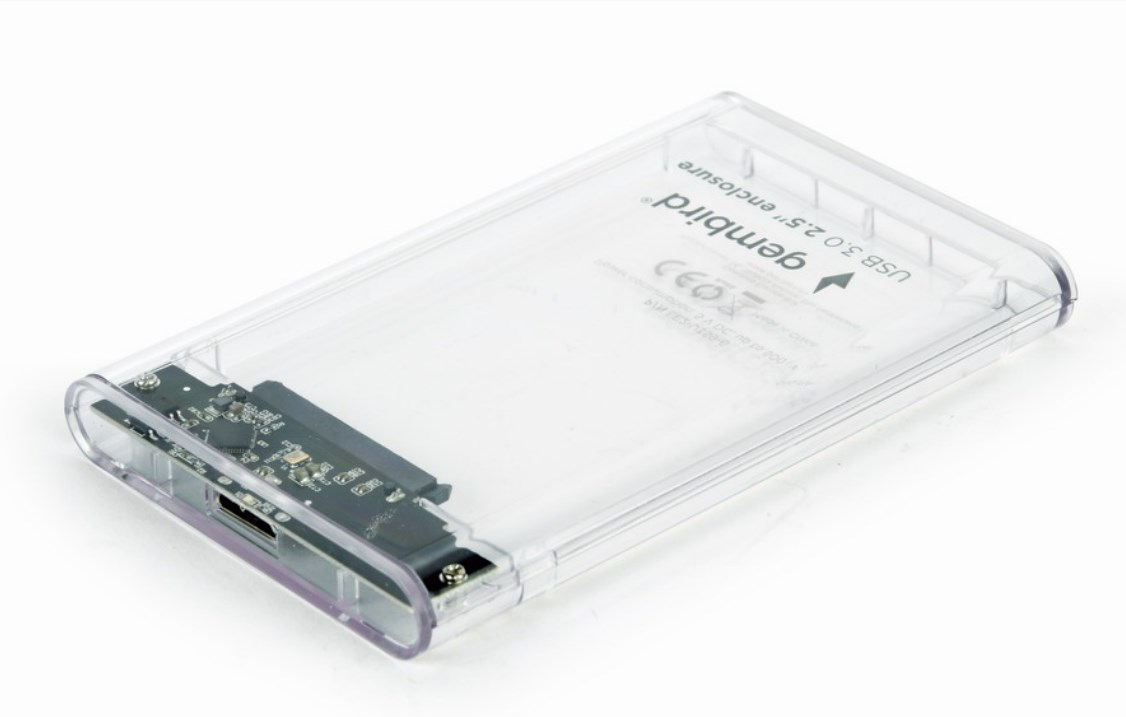 Gembird EE2-U3S9-6 - HDD-Gehäuse - 2.5 Zoll - SATA - 5 Gbit/s - USB Konnektivität - Transparent