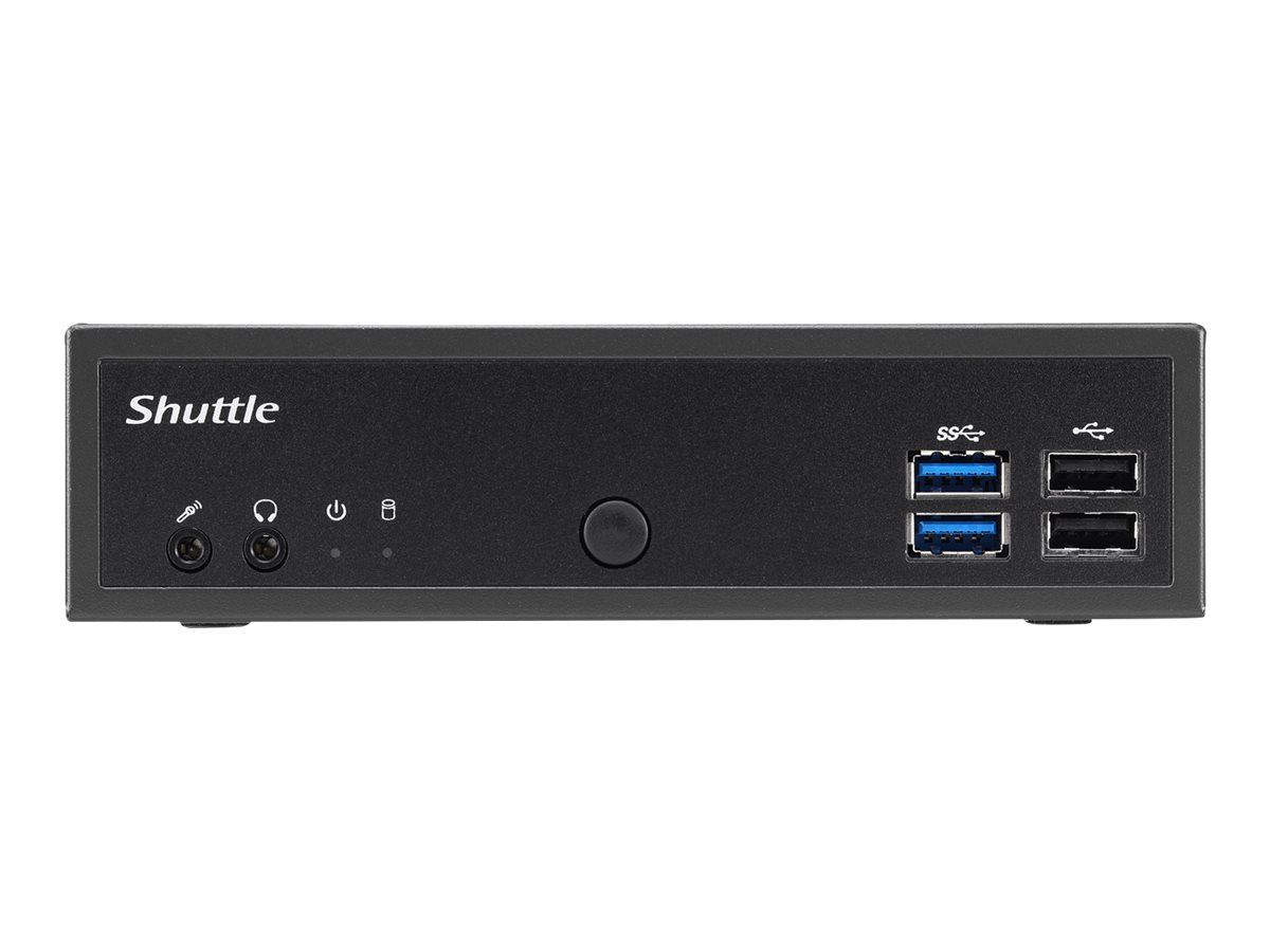 Shuttle XPC slim DH02U - Barebone - Slim-PC - 1 x Celeron 3865U ULV