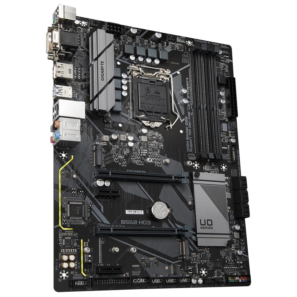 Gigabyte 1200 B560 HD3 - 2xM.2/DP/HDMI/DVI/VGA/ATX - Intel Sockel 1200 (Core i) - Micro/Mini/Flex-ATX