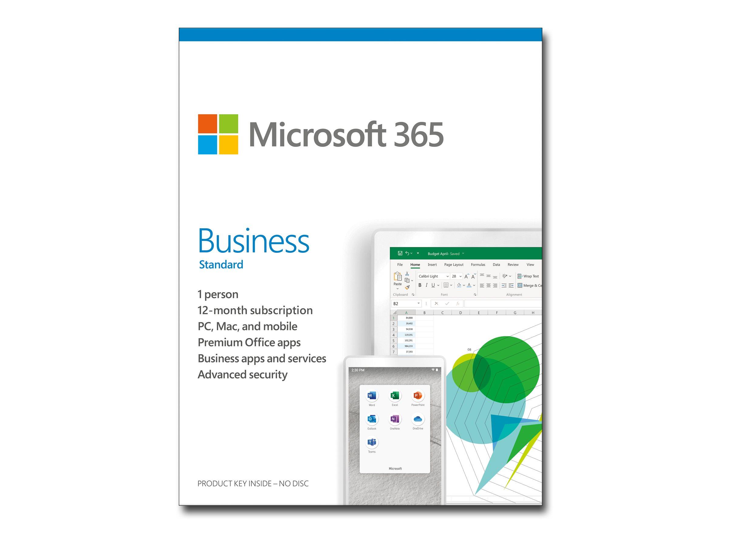 Vorschau: Microsoft 365 Business Standard - Box-Pack (1 Jahr)