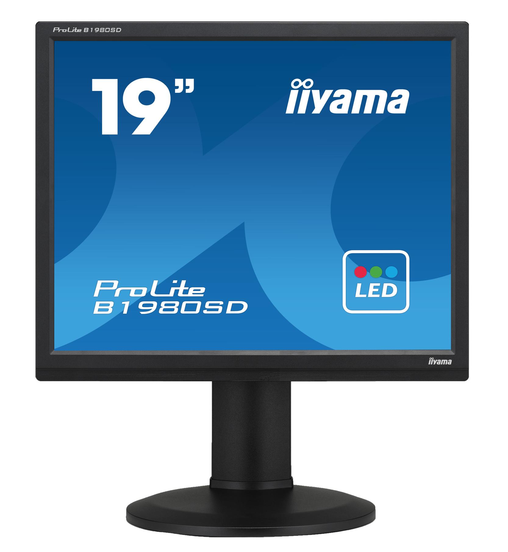 Iiyama ProLite B1980SD - 48,3 cm (19 Zoll) - 1280 x 1024 Pixel - LED - LED - 5 ms - Schwarz