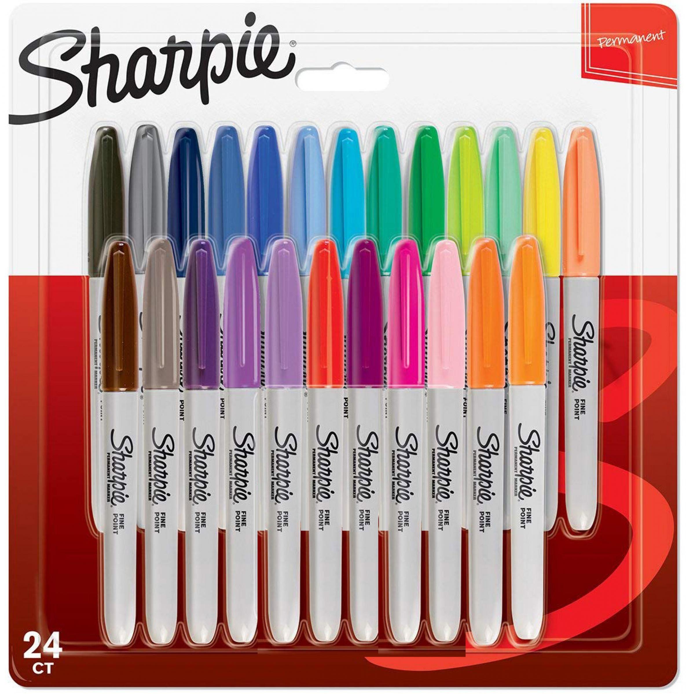 Sharpie 2065405 - 24 Stück(e) - Mehrfarben - Feine/ runde Spitze - Mehrfarben - Kunststoff - 0,9 mm