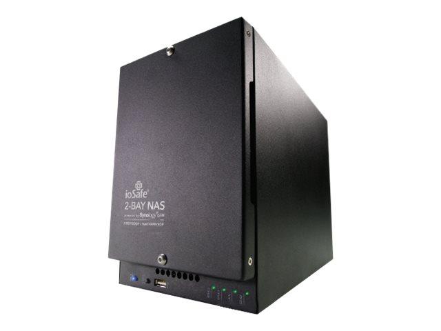 ioSafe 218 - NAS-Server - 2 Schächte - RAID 1