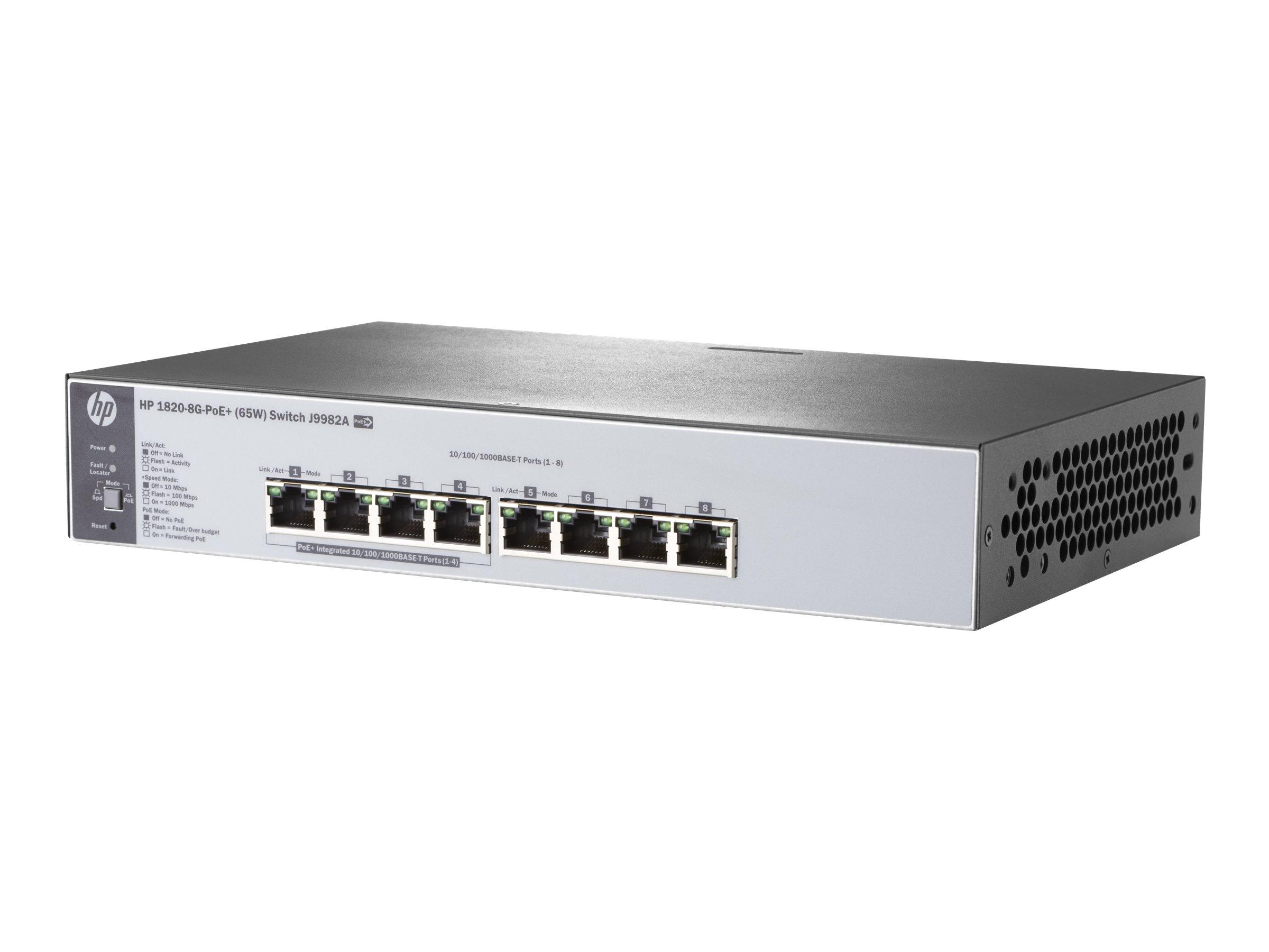 HP Enterprise 1820-8G-PoE+ (65W) - Switch
