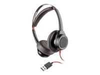Blackwire 7225 - PC/Spiele - Binaural - Kopfband - Schwarz - Rot - Verkabelt - USB Typ-A