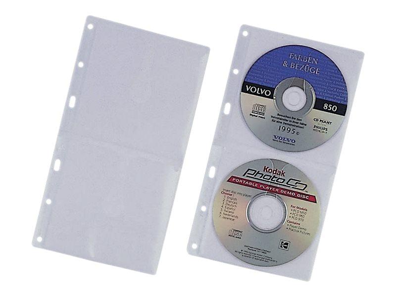 Durable CD Wallets - CD-Umschläge - Kapazität: 2 CD - durchsichtig (Packung mit 5)