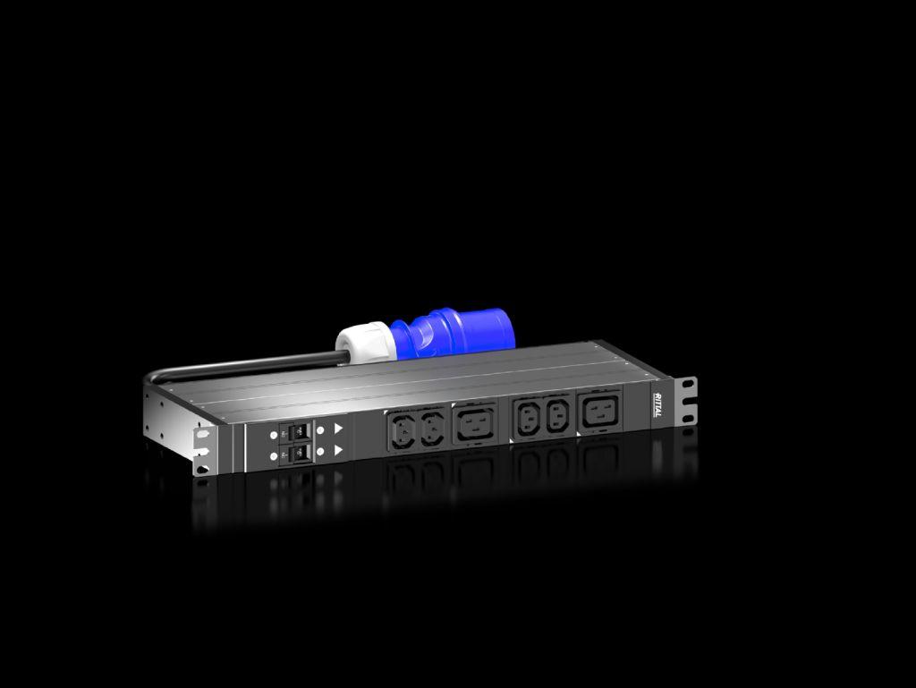 """Rittal PDU basic 32A/1P CEE 4xC13+2xC19 19"""" - 19"""" - Rack-Modul"""