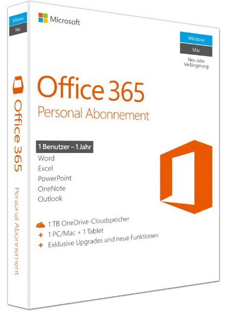 Microsoft Office 365 Personal - Box-Pack ( 1 Jahr )