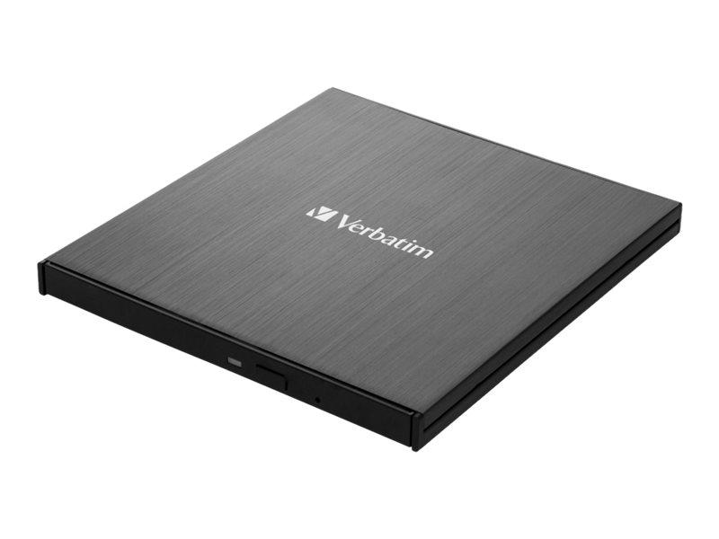 Verbatim Slimline - Laufwerk - BDXL Writer - 6x/4x - SuperSpeed USB 3.1 Gen 1 - extern (13.3 cm Slim Line)