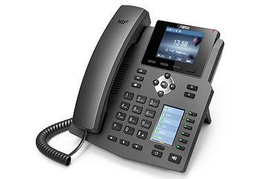 Fanvil X4G - IP-Telefon - Schwarz - Kabelgebundenes Mobilteil - Tisch/Wand - Im Band - Out-of band - SIP-Info - 4 Zeilen