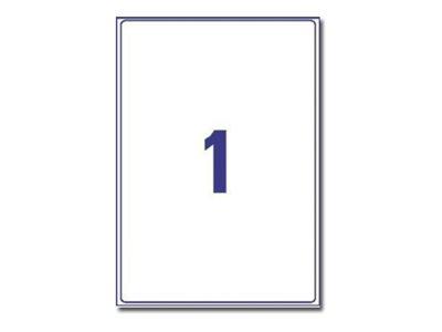 Avery Zweckform  Klar - A4 (210 x 297 mm) 25 Etikett(en) (25 Bogen x 1) transparente Adressenetiketten