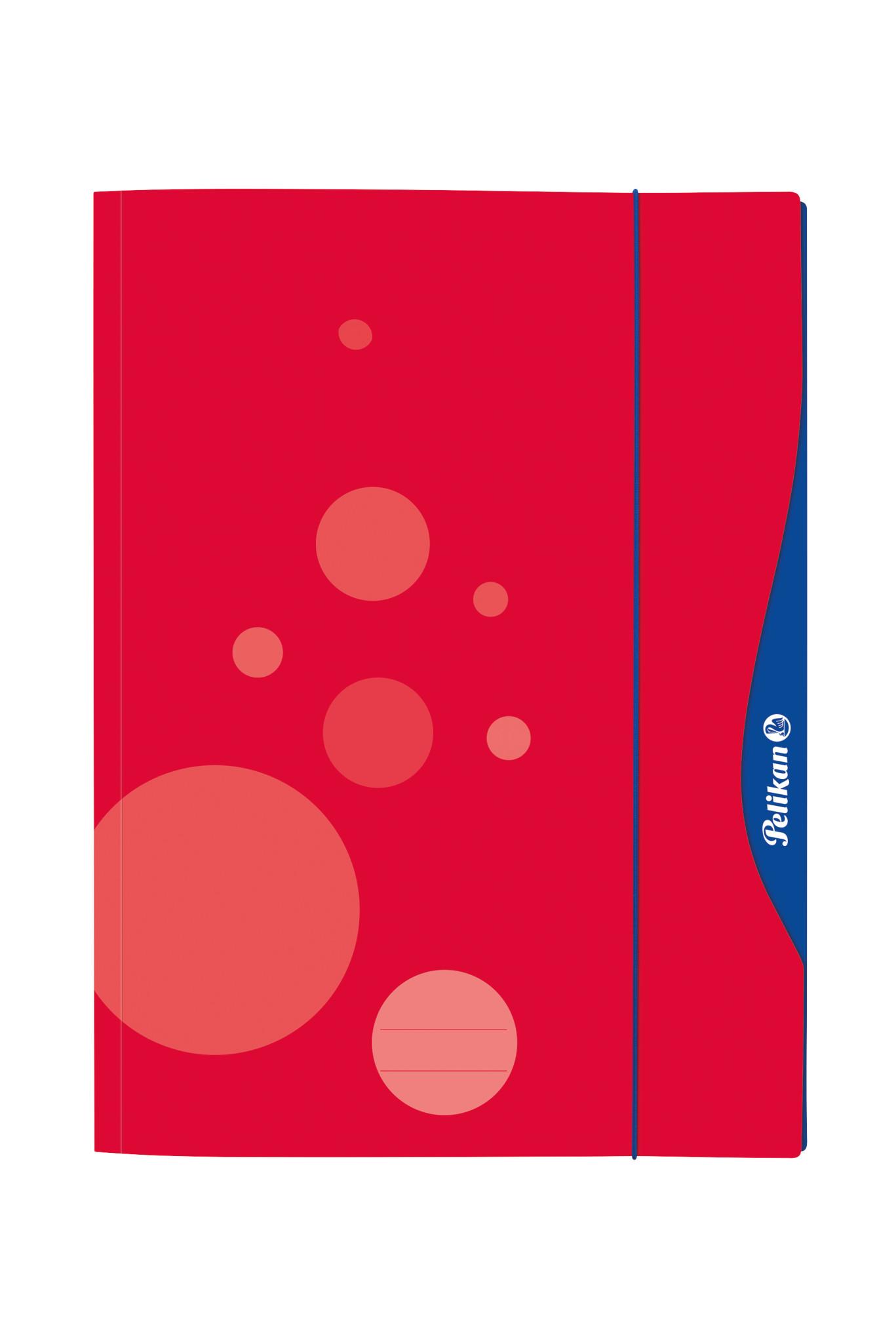 Pelikan 237284 - A3 - Sammelmappe - Rot - Gummiband