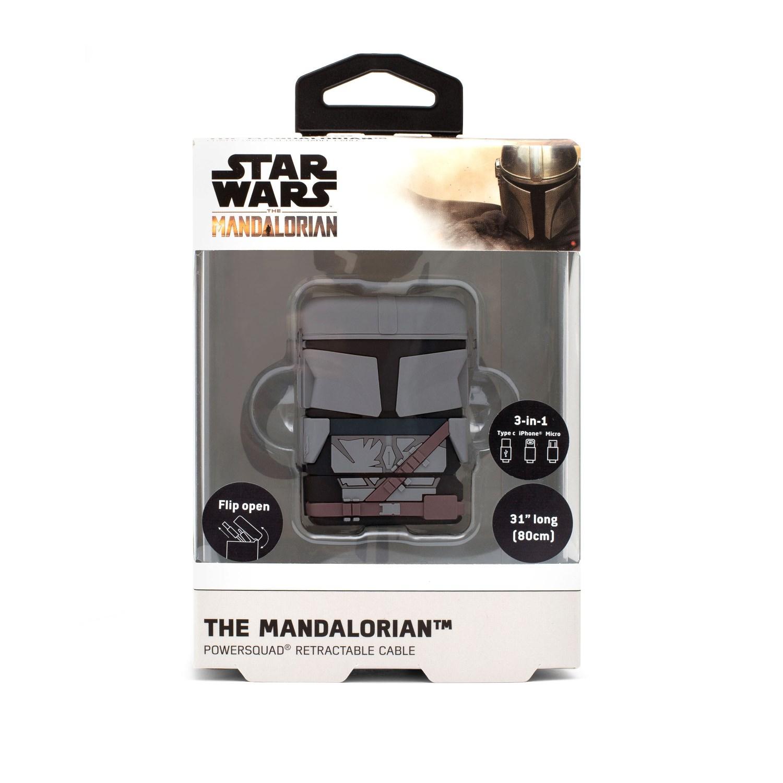 Vorschau: Thumbs Up PowerSquad The Mandalorian - 0,6 m - USB A - USB C/Micro-USB B/Lightning - Schwarz - Grau