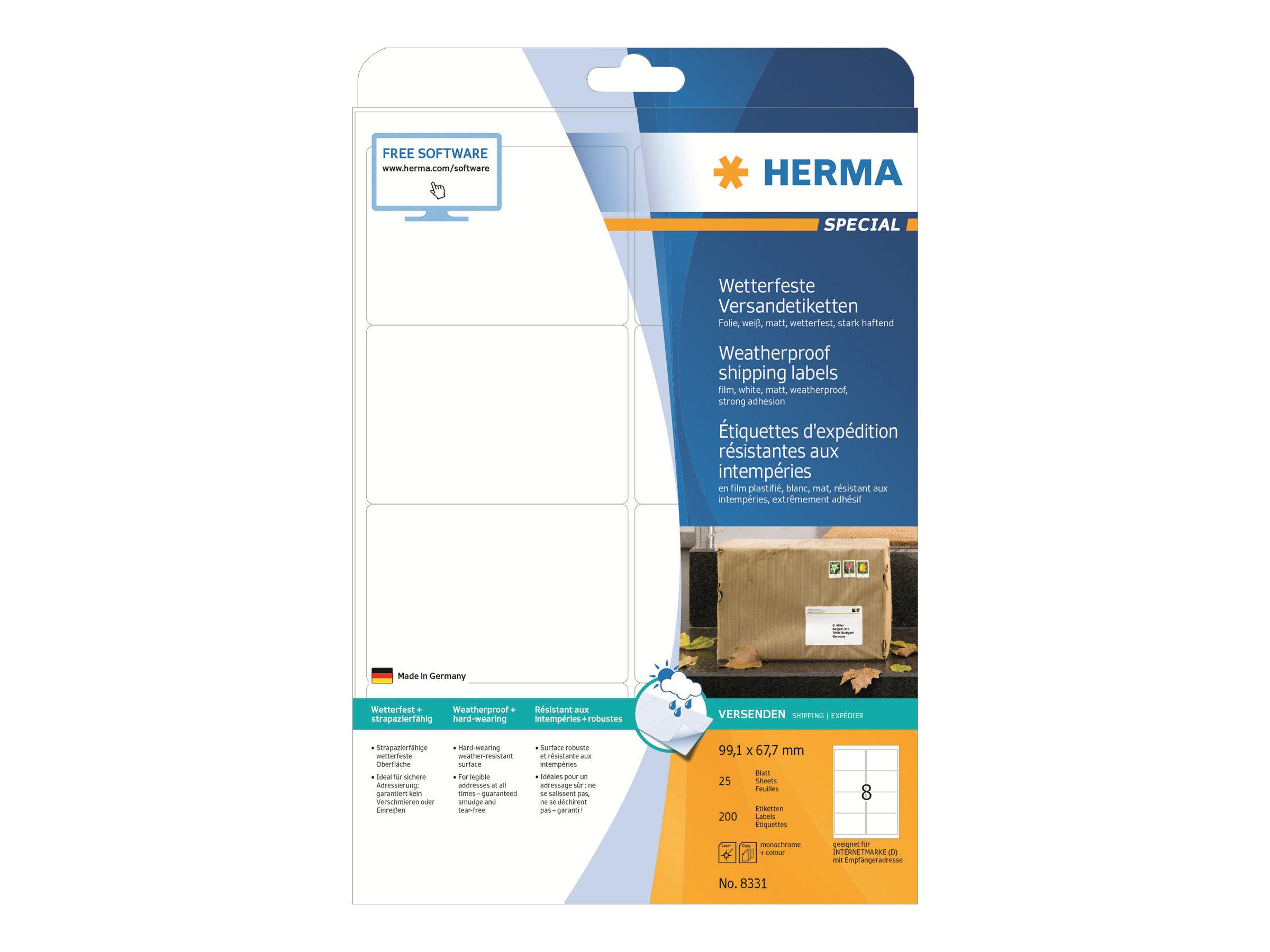 HERMA Special - Polyester - matt