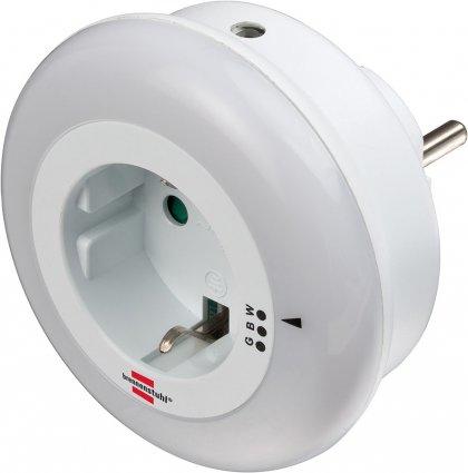 Brennenstuhl 1173260 - Stecker-Nachtlicht - Weiß - Grün - Blau - Weiß - Schlafzimmer - Kinderzimmer - LED - 6 lm
