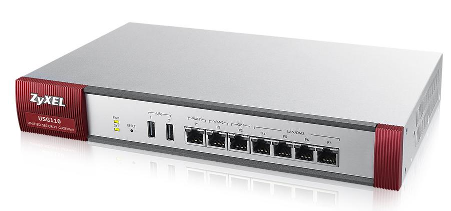 ZyXEL USG110 - 400 Mbit/s - 3.33 A - 37 W - 0 - 40 °C - -30 - 70 °C - 10 - 90%