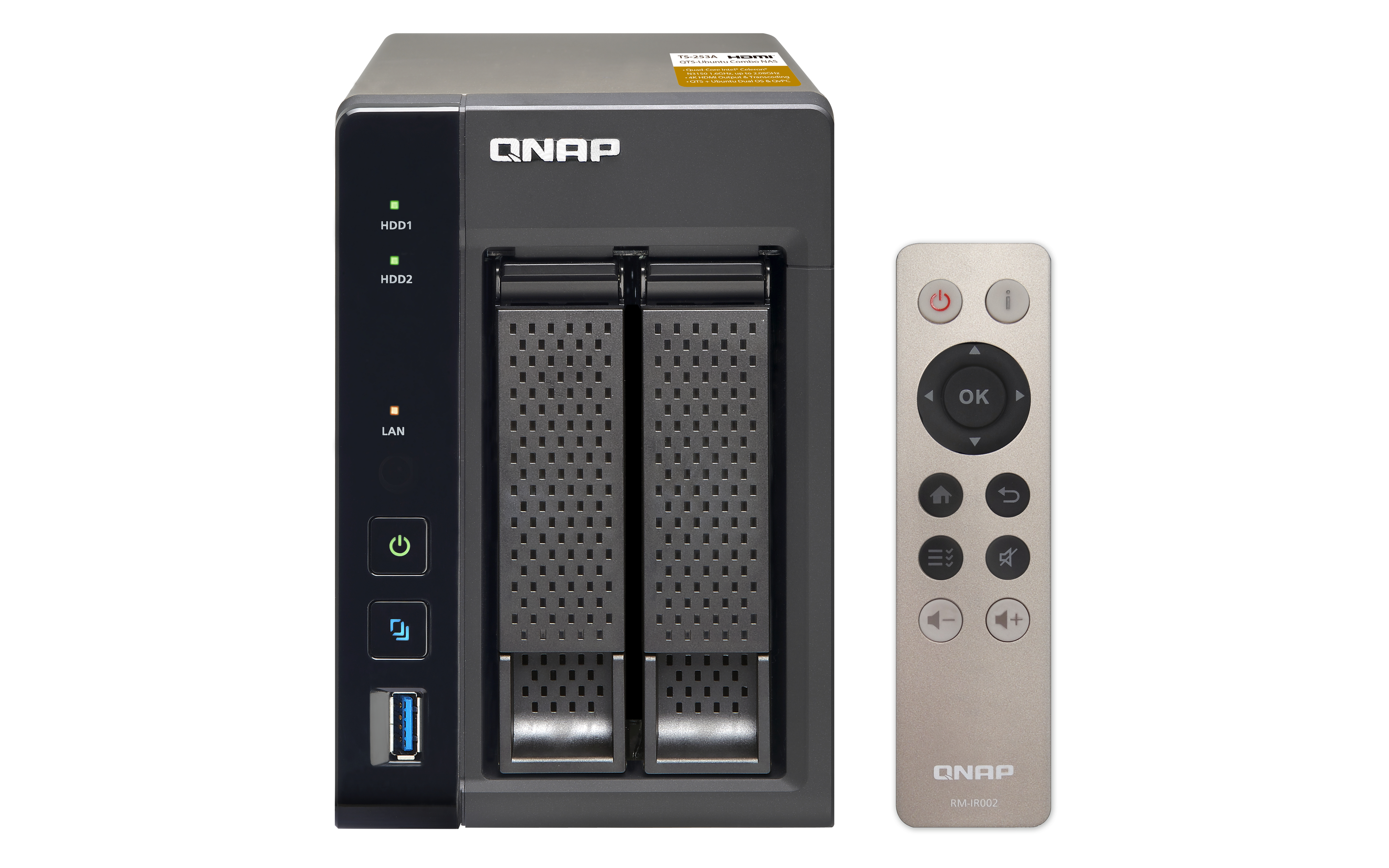 QNAP TS-253A - NAS-Server - 2 Schächte
