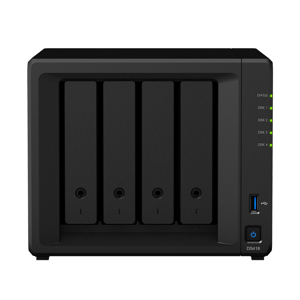 Synology DiskStation DS418 - NAS - Mini Tower - Realtek - RTD1296 - Schwarz