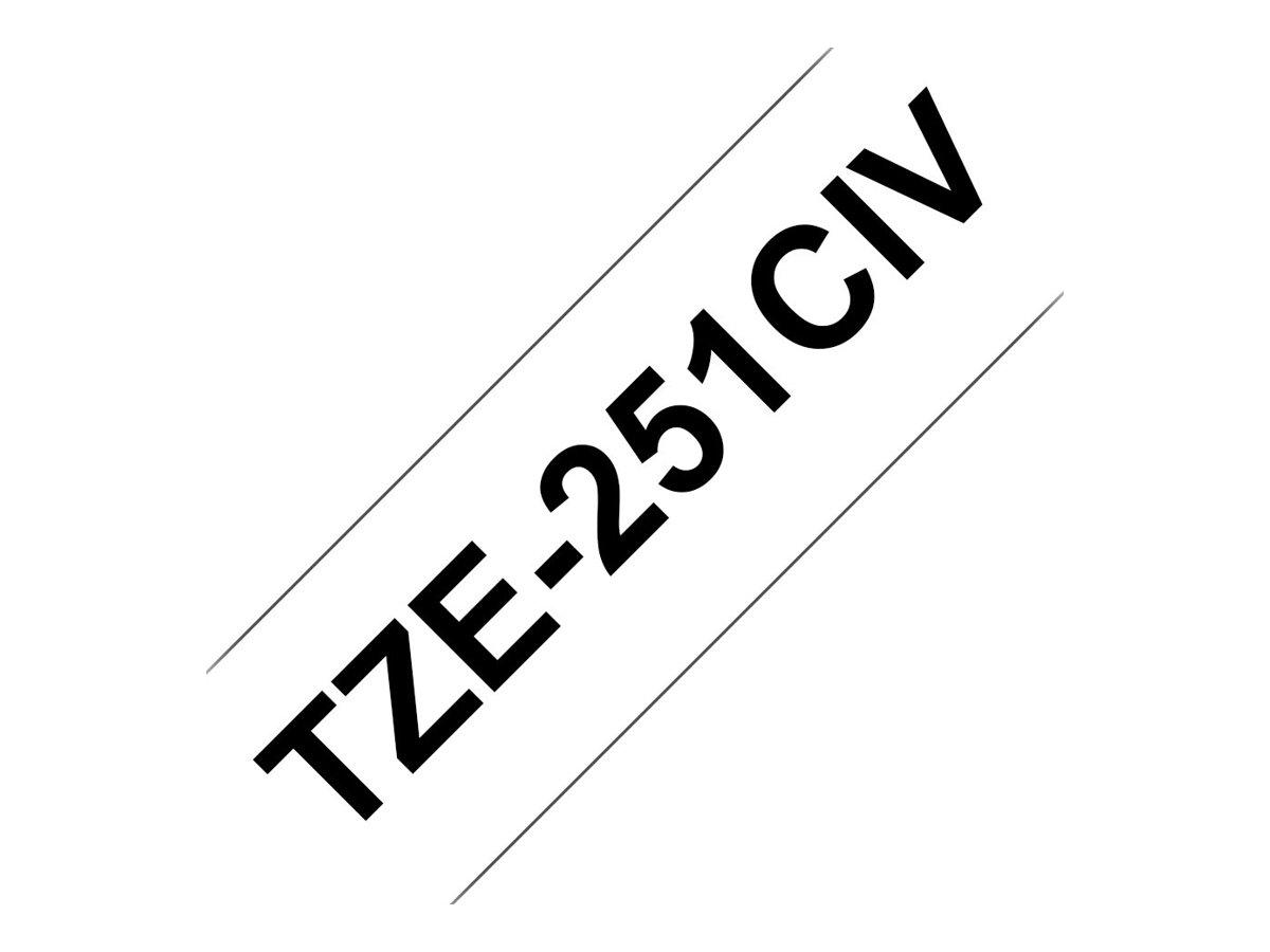 Brother TZ251CIV - Schwarz auf Weiß - Rolle (2,4 cm x 8 m)