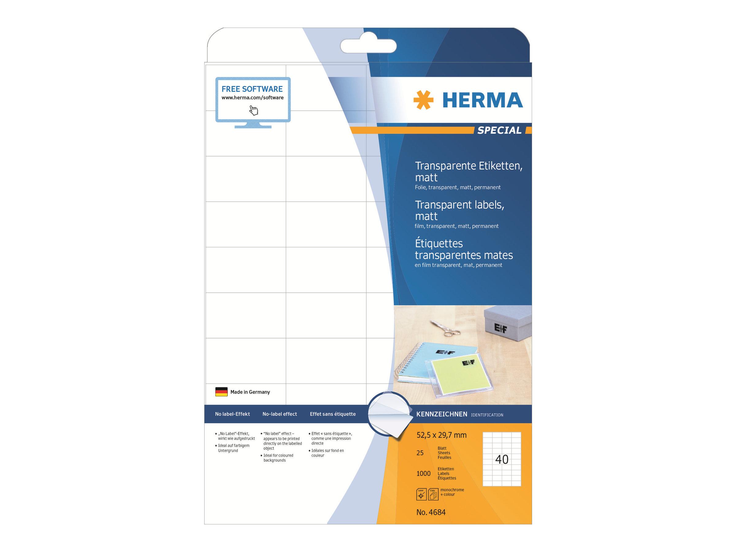 HERMA Special - Matt - permanent selbstklebend