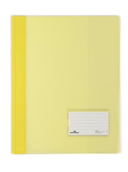 Durable Schnellhefter transluzent - A4 - PVC - Gelb - Porträt - 57 x 90 mm - 1 Stück(e)
