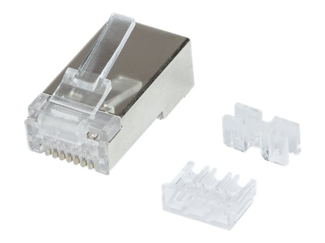 LogiLink Netzwerkanschluss - RJ-45 (M) - STP - CAT 6a (Packung mit 50)