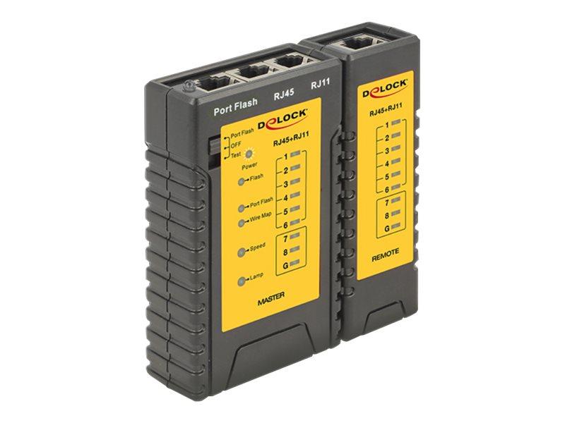 Delock Cable Tester + Portfinder - Netzwerktester-Set