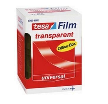 Tesa 57406 - 66 m - Transparent - Polypropylen (PP) - Pappe - Papier - 19 mm - 8 Stück(e)