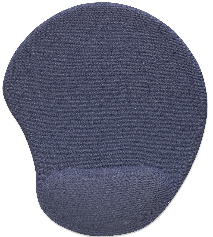 Manhattan 427203 - Blau - Einfarbig - Neopren - Polyester - Polyurethan - Handgelenkauflage - Gaming-Mauspad