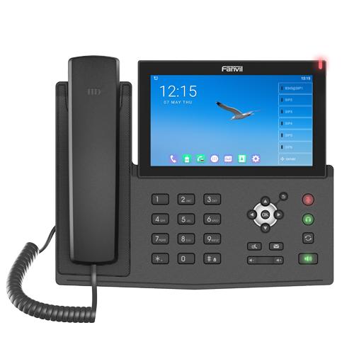 Fanvil X7A - Schwarz - Kabelgebundenes Mobilteil - Android - LCD - 1024 x 600 Pixel - 17,8 cm (7 Zoll)