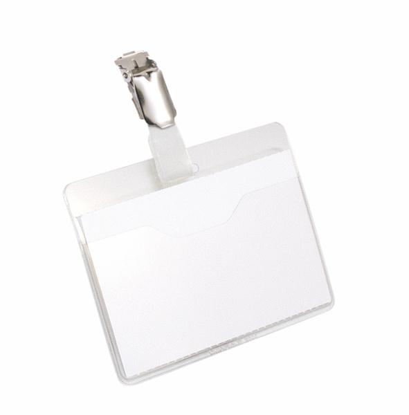 Durable 810619 - Namensschild - mit Clip - drehbar - PVC - Transparent