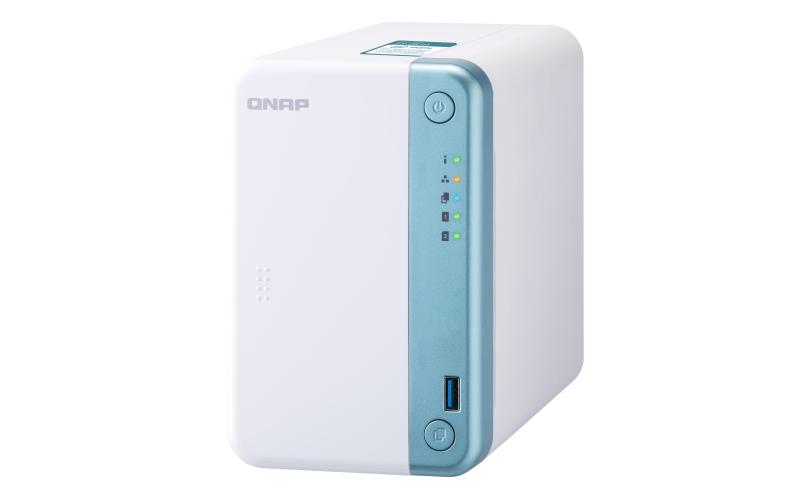 QNAP TS-251D - NAS - Tower - Intel® Celeron® - J4005 - 4 TB - Blau - Weiß