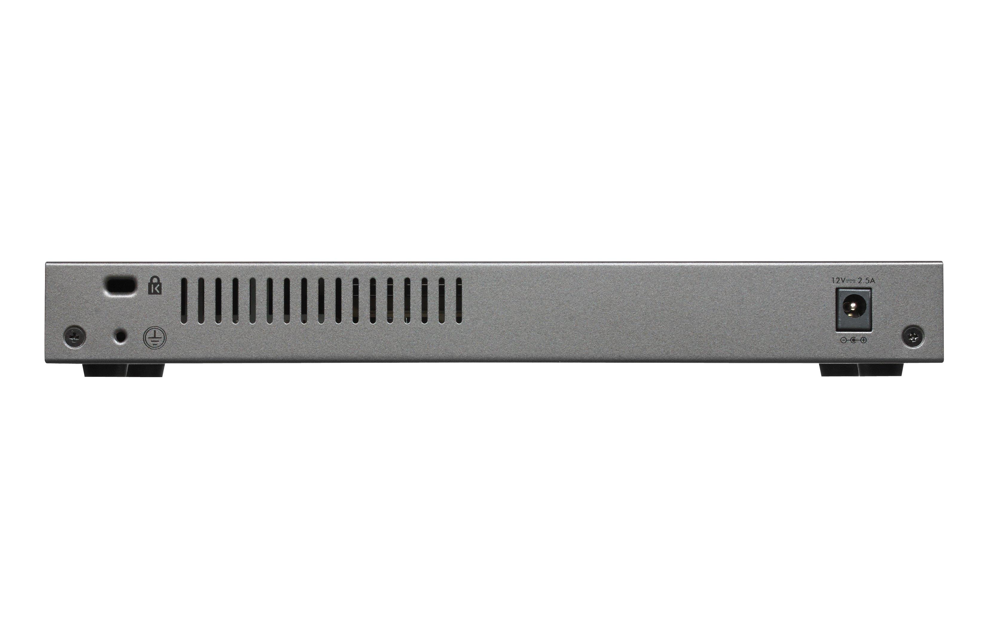 Netgear GS110EMX gemanaged L2 10G Ethernet (100/1000/10000) Schwarz